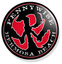 chapa de 25mm, Pennywise, hermosa beach Logo button