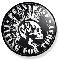 chapa de 25mm, Pennywise, Living for today button