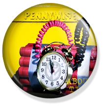 chapa de 25mm, Pennywise, About time album button