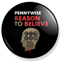 chapa de 25mm, Pennywise, Reason to believe album button