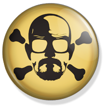 chapa breaking bad skull button