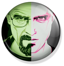 chapa breaking bad button walter and pink man