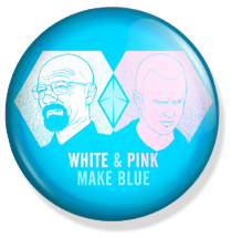 chapa breaking bad button white & pink