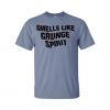 smells like grunge spirit t-shirt blue
