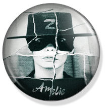 chapa amelie button, zorro custom