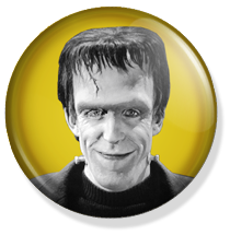 chapa de 25mm, The Munsters, Herman Munster button