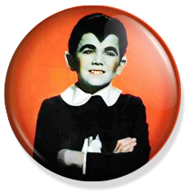 chapa de 25mm, The Munsters, eddie munster button