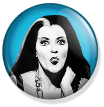 chapa de 25mm, The Munsters, Lily Munster button