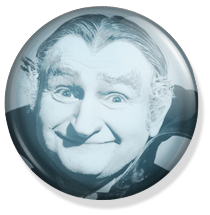 chapa de 25mm, The Munsters, Granpha face button