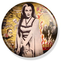 chapa de 25mm, The Munsters, Lily tv button