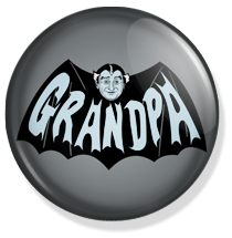 chapa de 25mm, The Munsters, Batman grandpha button