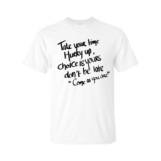 come as you are t-shirt white