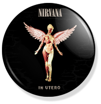 nirvana, in utero 20th anniversary button