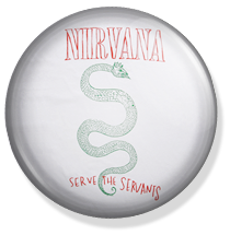 nirvana, serve the servants button