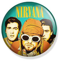 nirvana band button